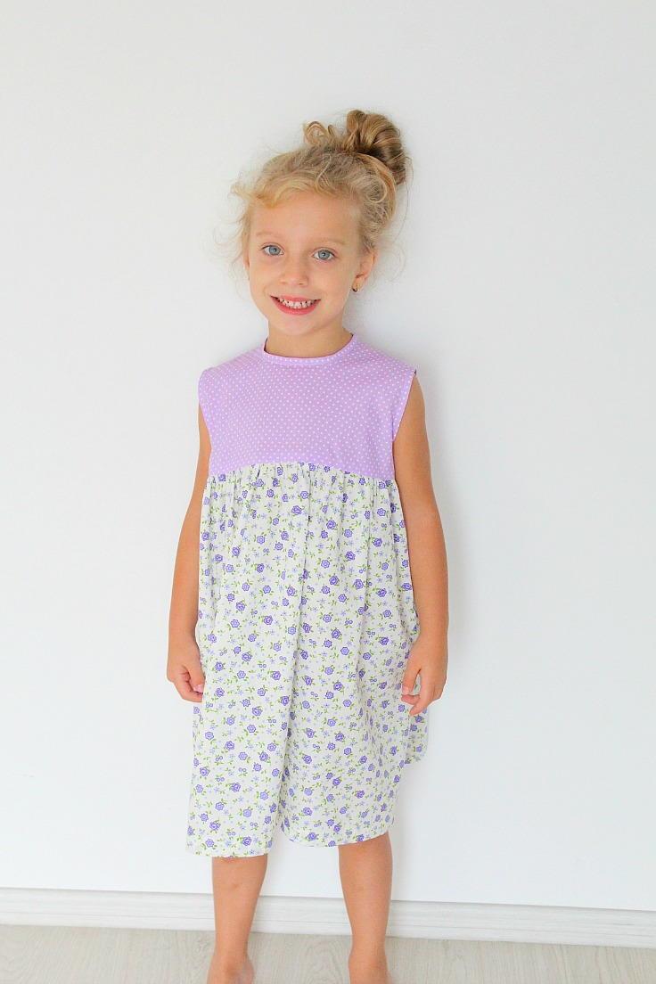 Easy Girls Gathered Dress Pattern