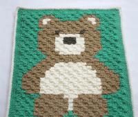 Cuddly Teddy Bear Crochet Baby Blanket Pattern ...