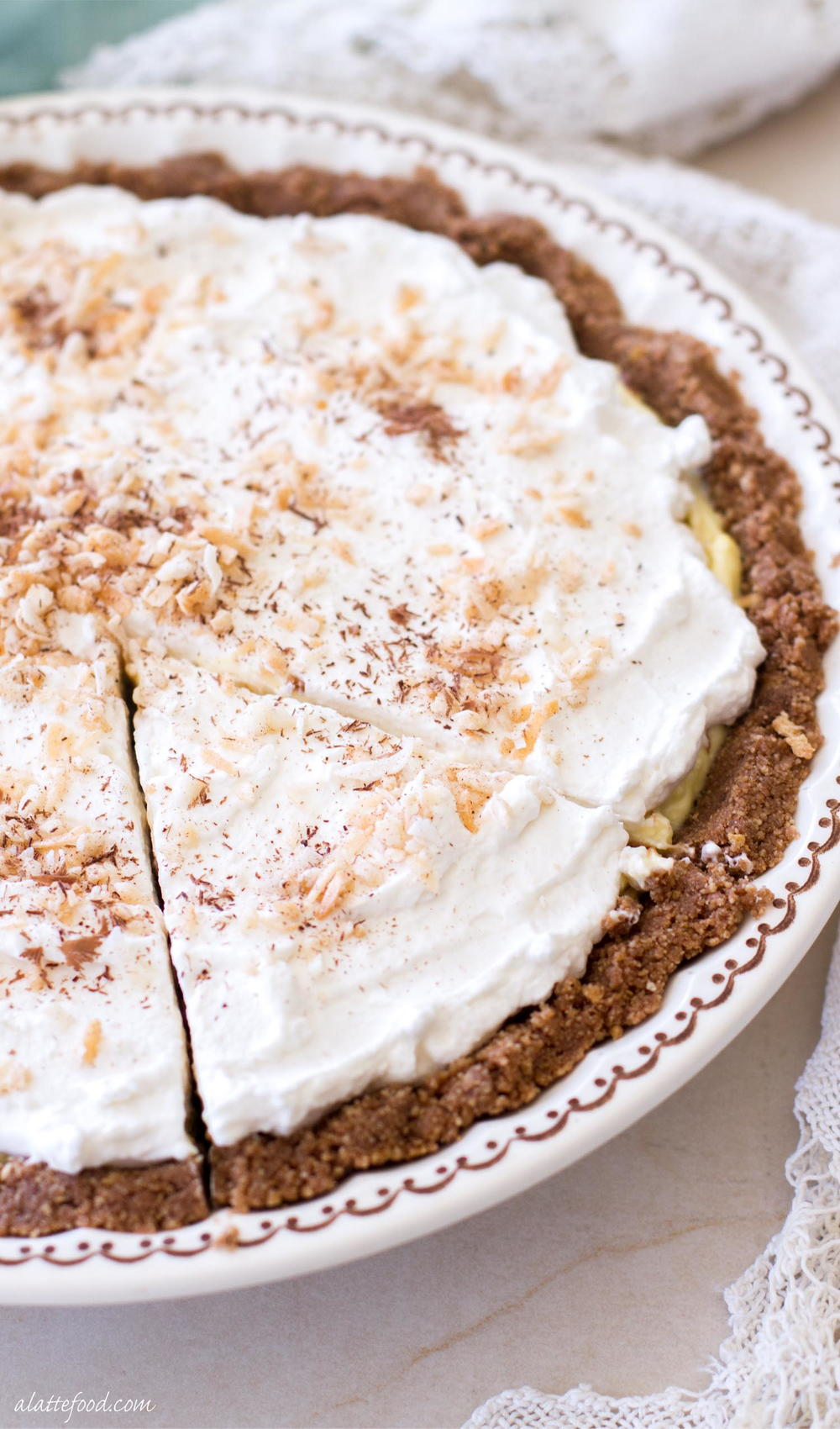 NoBake Chocolate Coconut Cream Pie  TheBestDessertRecipescom