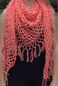 Crochet Pattern For Triangle Shawl ~ Dancox for