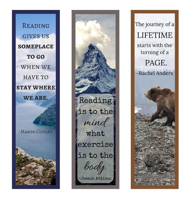 Book Quotes Printable Bookmark Set
