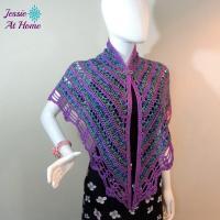 Silky Panda Crochet Shawl | AllFreeCrochet.com