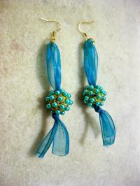 Ravishing Beaded Ribbon DIY Earrings ...