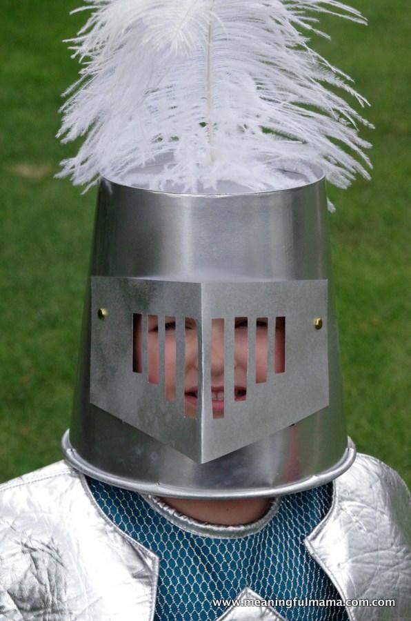 Knight Helmet DIY Halloween Costume  AllFreeKidsCraftscom