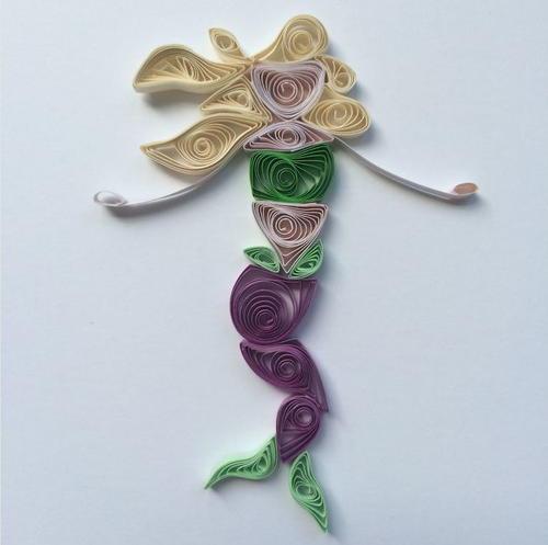 mermaid paper quilling design