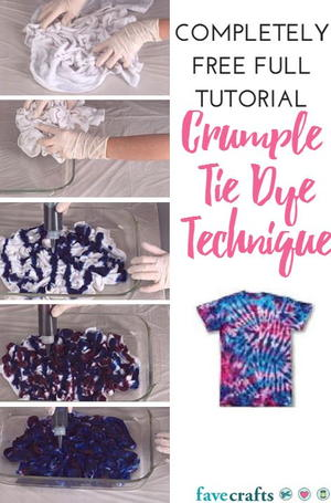 Swirl Tie Dye Technique