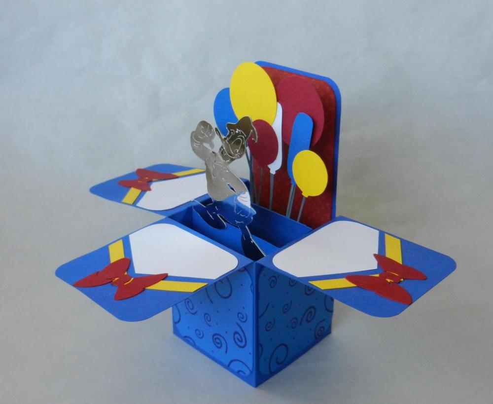Donald Duck Handmade Box Card