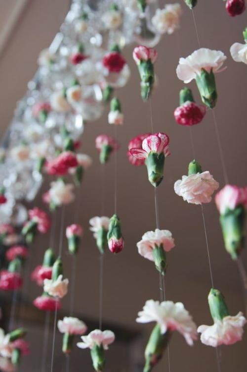 Cascading Flower DIY Wedding Backdrop  AllFreeDIYWeddingscom