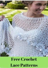 Free Crochet Pattern For Lacy Baby Shawl ~ Dancox for