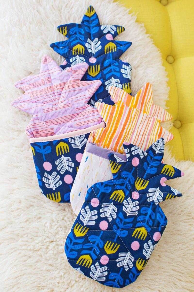 Pineapple Oven Mitt Pattern  AllFreeSewingcom