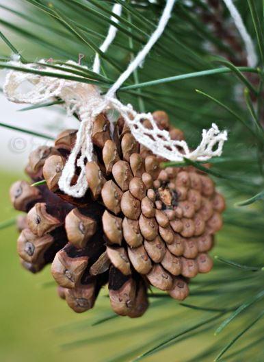 Pine Cone DIY Christmas Tree Ornament