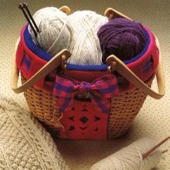 Kitchen Window Treatments Ideas Console Cozy Knitting Basket Pattern | Allfreesewing.com