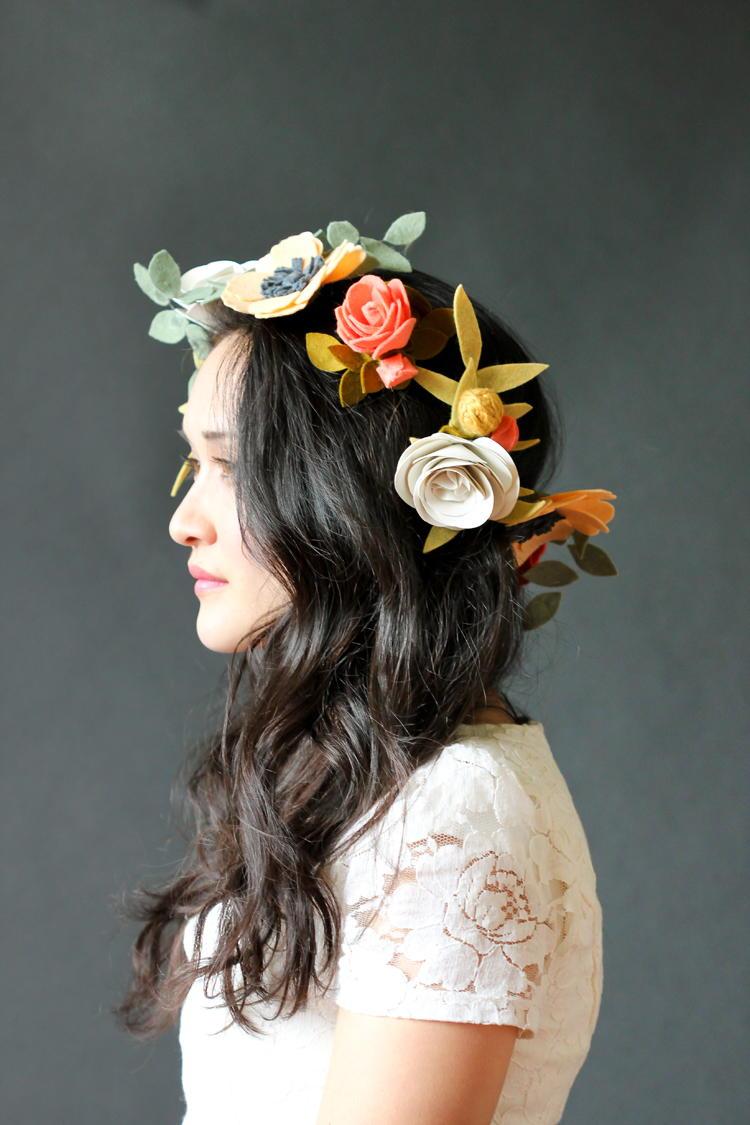 Felt Princess Flower Crown  FaveCraftscom