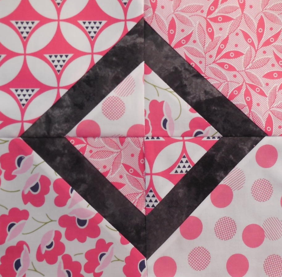 Pink Diamond Quilt Block  FaveQuiltscom