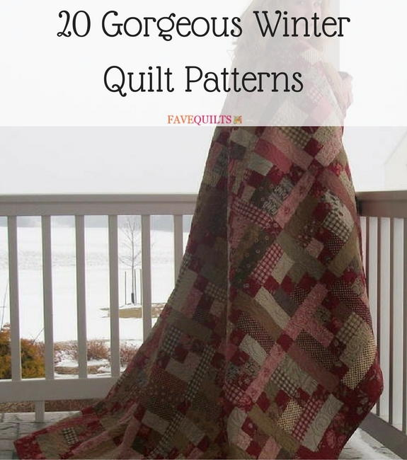 20 Gorgeous Winter Quilt Patterns  FaveQuiltscom