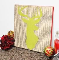 Deer Silhouette DIY Wall Art | AllFreePaperCrafts.com