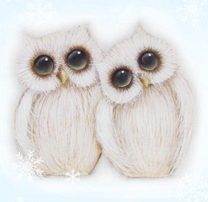 Woodland Winter Owl Printable Ornaments