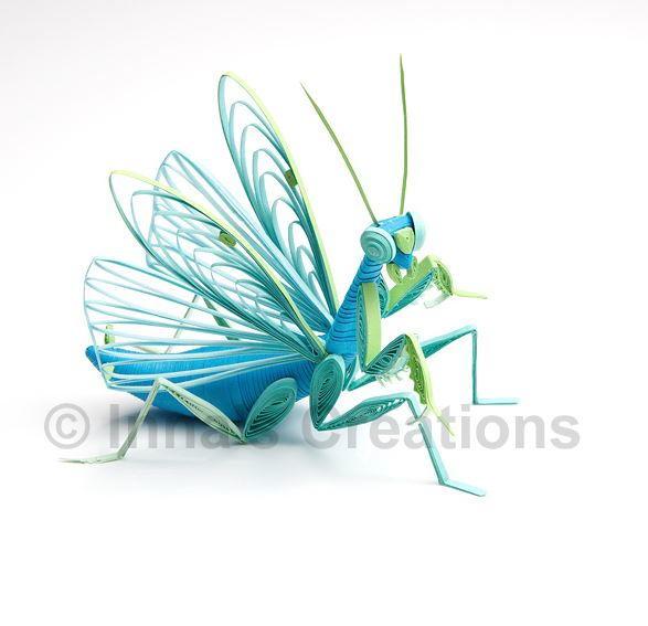 Praying Mantis 3D Quilling Art
