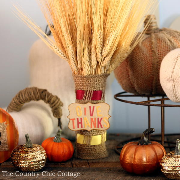 Gorgeous Amish Burlap Wrapped Wheat