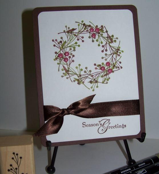 Classically Beautiful Wreath DIY Christmas Card