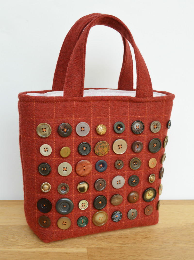 Small Button Tote Bag  AllFreeSewingcom