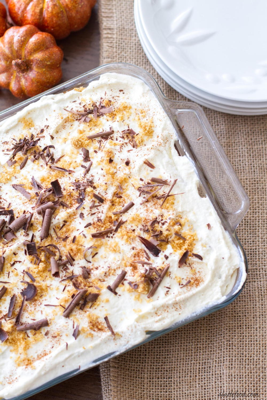 Chocolate Pumpkin Spice Dessert Lasagna Recipe