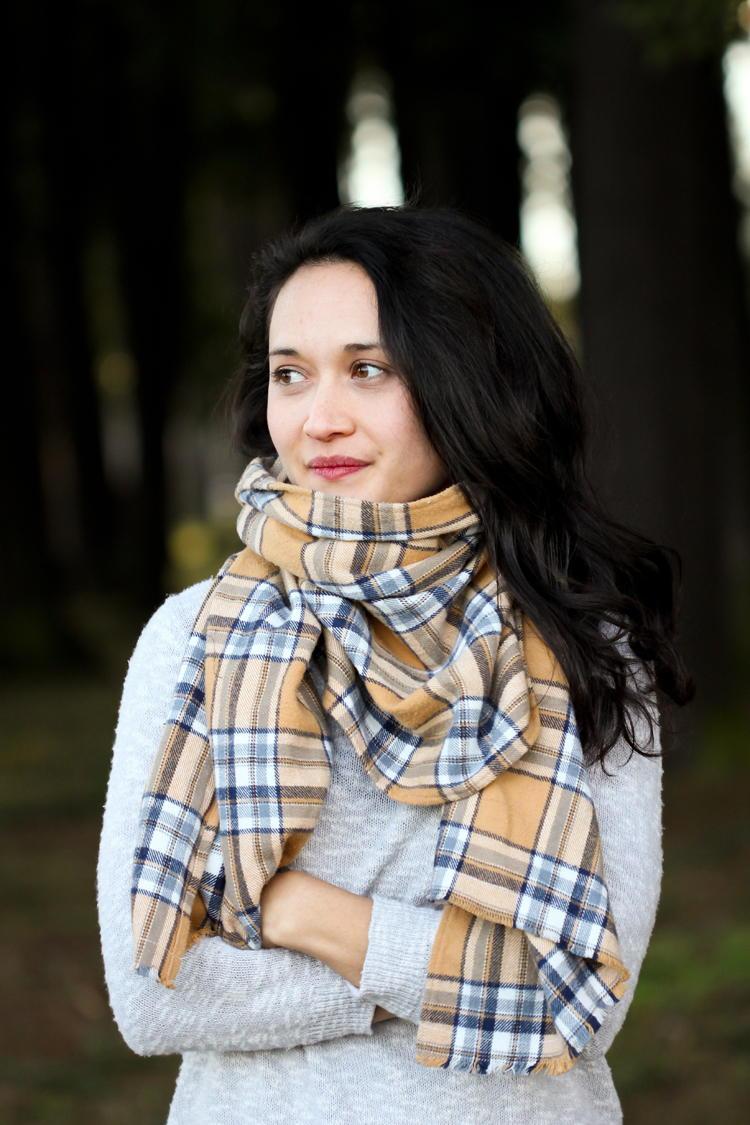 Comfy Flannel Blanket Scarf  AllFreeSewingcom