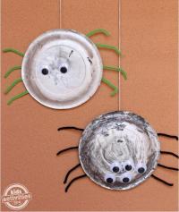 Halloween Paper Plate Spider Craft | AllFreeKidsCrafts.com