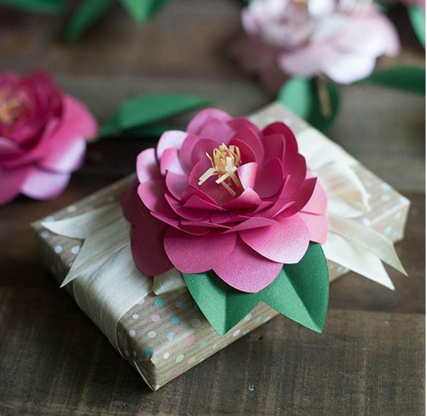 Camellia Diy Paper Flowers Allfreepapercrafts