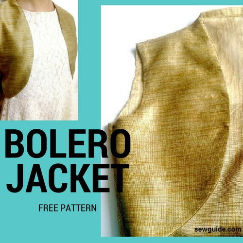 Free Bolero Sewing Pattern  AllFreeSewingcom