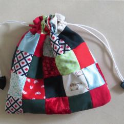Kitchen Chair Slipcovers Mickey Mouse Table And Chairs Target Scrappy Patchwork Gift Bag   Allfreesewing.com