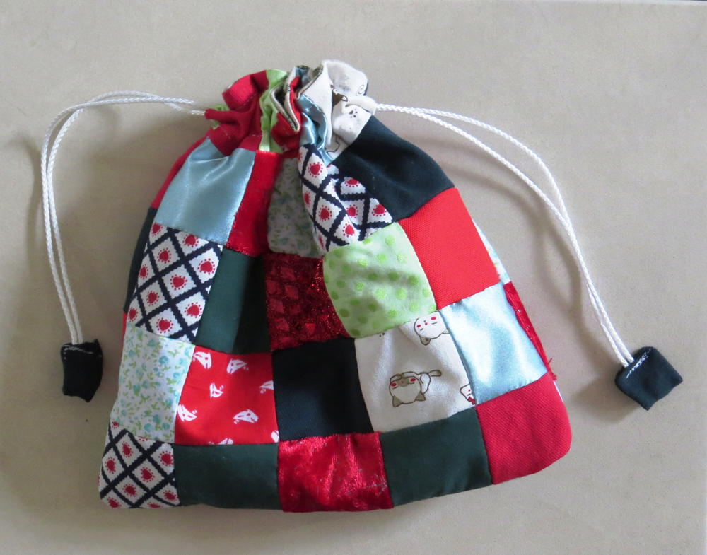 Scrappy Patchwork Gift Bag  AllFreeSewingcom
