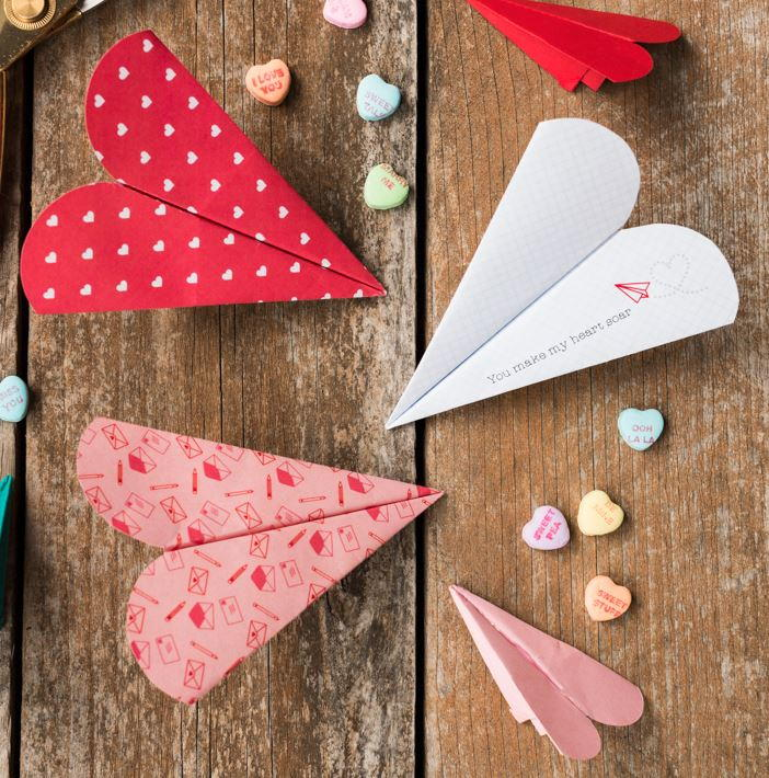 Free Printable Heart Paper Airplanes AllFreePaperCrafts Com