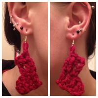 Crochet Stocking DIY Earrings   AllFreeJewelryMaking.com