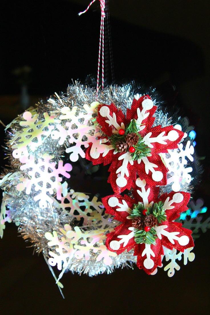 Tinsel Garland Wreath  FaveCraftscom