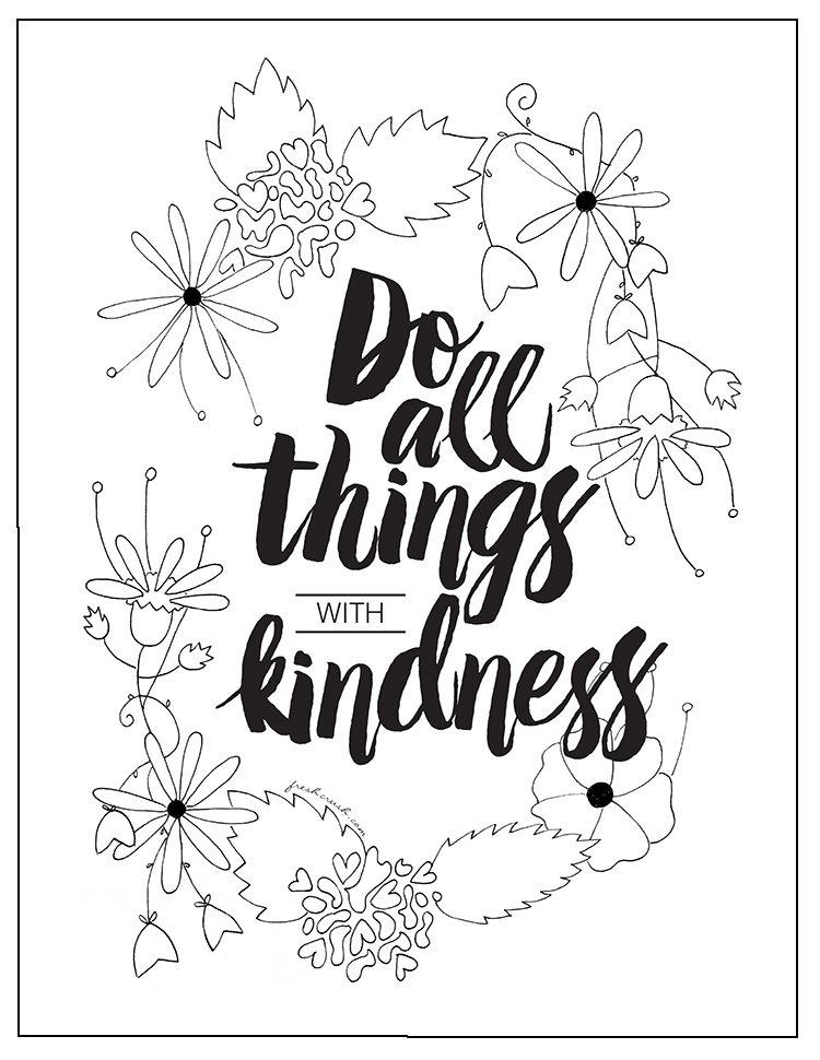 kindness coloring page  favecrafts