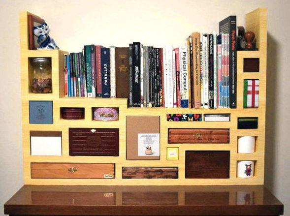 Tetris Design DIY Cardboard Shelves