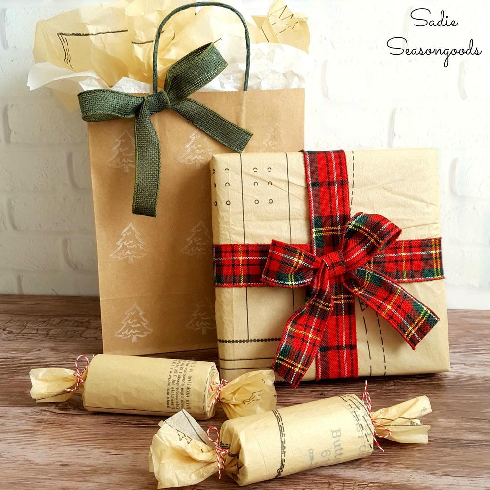 Thrifty Christmas Diy Gift Wrap Allfreeholidaycrafts