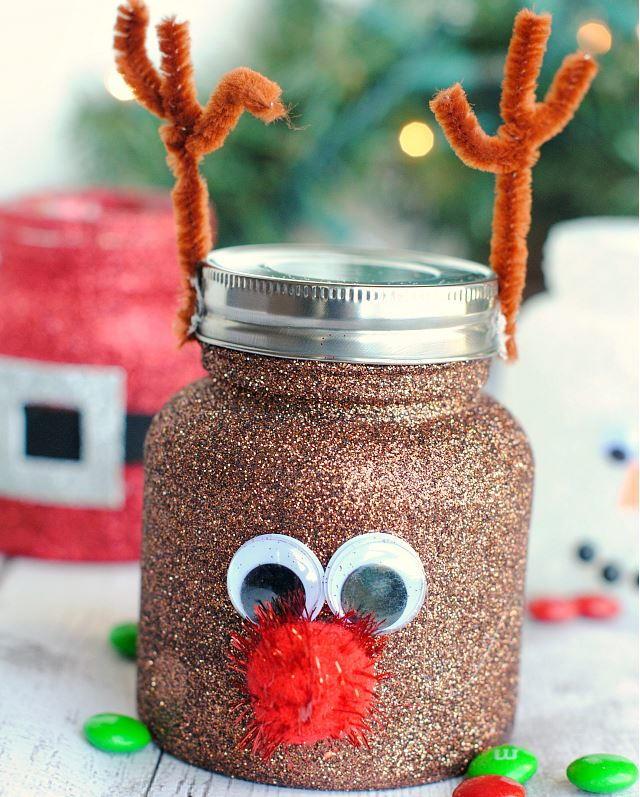 Christmassy Treat Jar Decorating Ideas