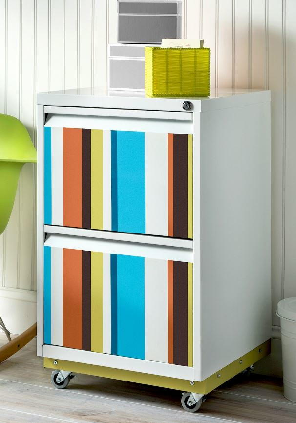 Color Splash DIY File Cabinet Makeover  DIYIdeaCentercom