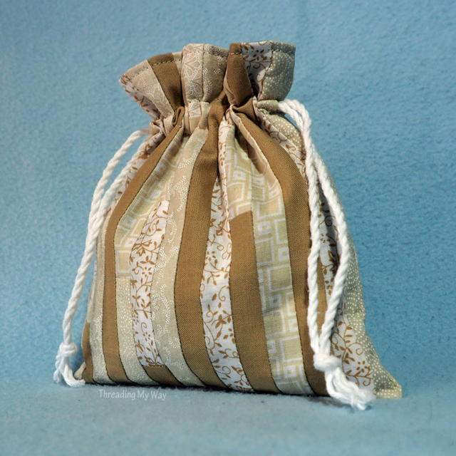 Small Patchwork Lined Drawstring Bag  AllFreeSewingcom
