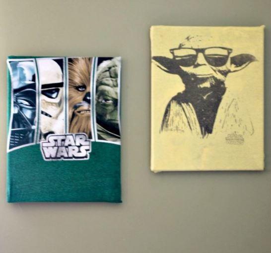 Upcycled Shirt Diy Canvas Art Diyideacenter Com