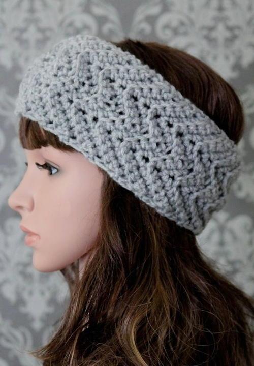 Elegant Zig Zag Headband Crochet Pattern  AllFreeCrochetcom