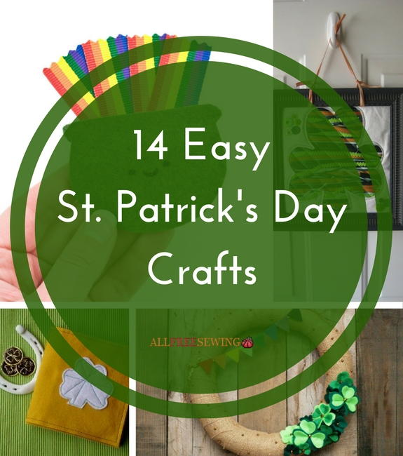 14 Easy St Patricks Day Crafts  AllFreeSewingcom