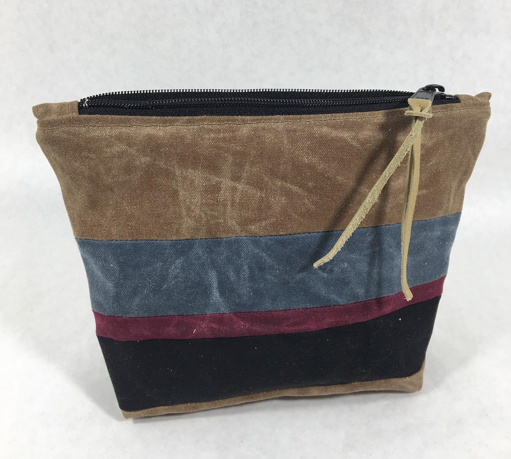 Waxed Canvas Zippered Pouch  AllFreeSewingcom