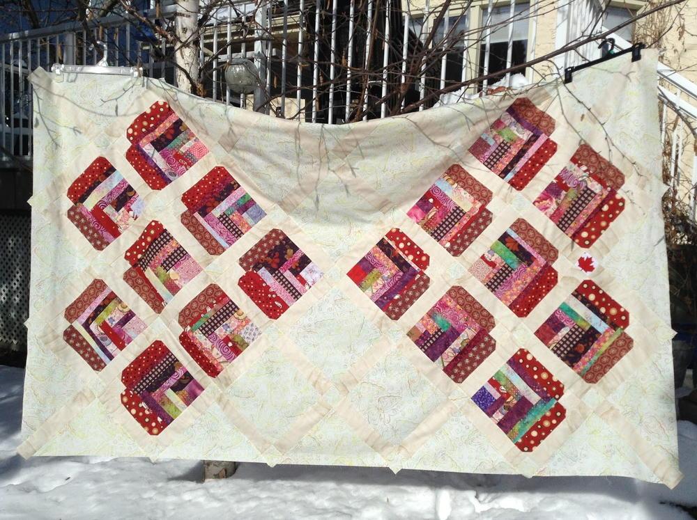 Improvised Heart Quilt Construction Tutorial