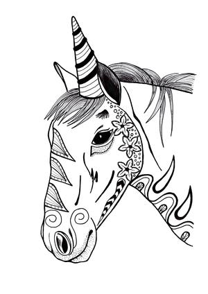 Adult Coloring Page Unicorn : adult, coloring, unicorn, Unicorn, Coloring, Download), FaveCrafts.com