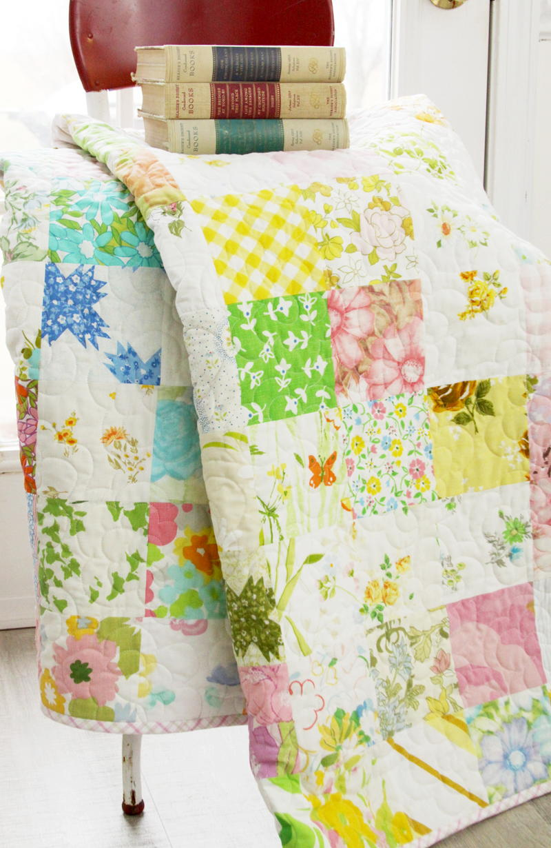runners kitchen antique hutch spring in scandinavia vintage sheet quilt | favequilts.com