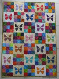 Scrappy Butterfly Baby Quilt Tutorial | FaveQuilts.com