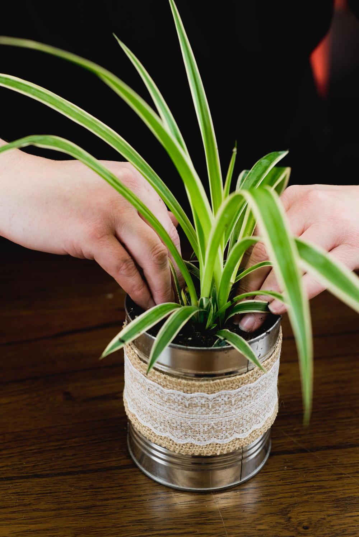 Coffee Tin Flower DIY Vase  DIYIdeaCentercom